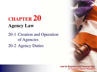 CHAPTER  20 Agency Law