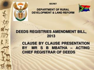 SECRET DEPARTMENT OF RURAL DEVELOPMENT & LAND REFORM