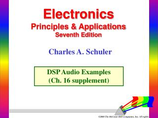 Electronics Principles & Applications Seventh Edition
