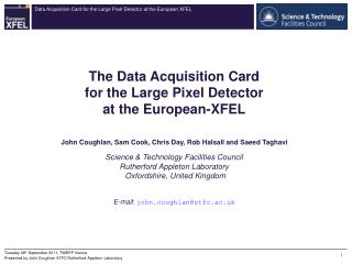 The Data Acquisition Card for the Large Pixel Detector at the European-XFEL