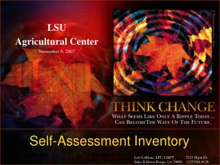 Self-Assessment Inventory