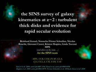 Genzel et al. 2008, astro-ph 0807.1184, Genel et al. astro-ph 0808.0194
