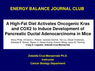 ENERGY BALANCE JOURNAL CLUB