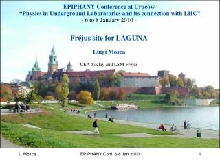 "EPIPHANY Conference at Cracow   ""Physics in Underground Laboratories and its connection with LHC"""