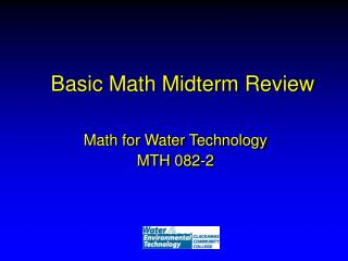 Basic Math Midterm Review