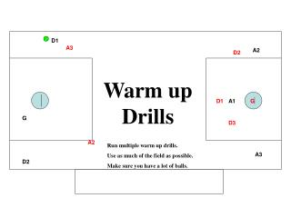Warm up Drills