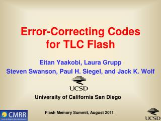 Error-Correcting Codes for TLC Flash
