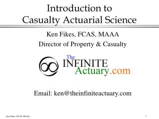 Introduction to Casualty Actuarial Science