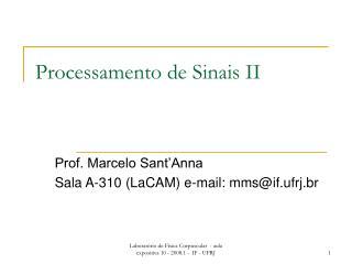 Processamento de Sinais II