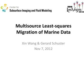 Multisource Least-squares Migration of Marine Data