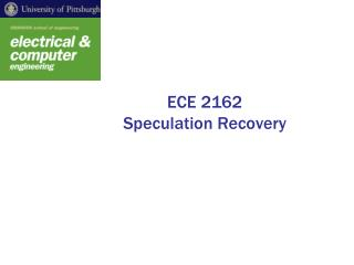 ECE 2162 Speculation Recovery