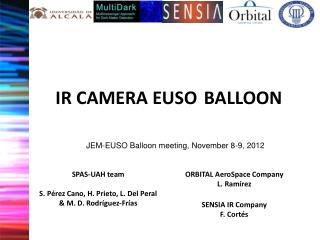 IR CAMERA EUSO BALLOON