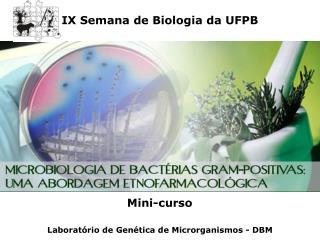 IX Semana de Biologia da UFPB