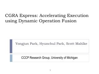 CGRA Express: Accelerating Execution using Dynamic Operation Fusion