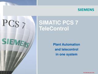 SIMATIC PCS 7 TeleControl