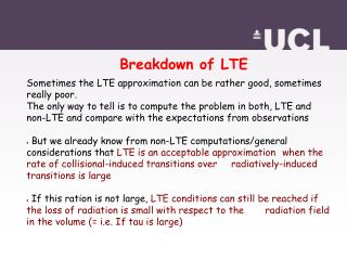 Breakdown of LTE