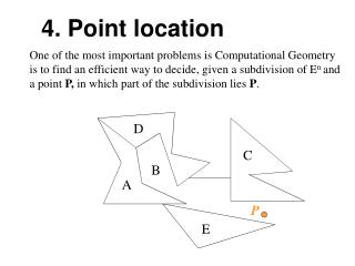 One of the most important problems is Computational Geometry