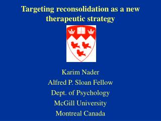 Targeting reconsolidation as a new therapeutic strategy