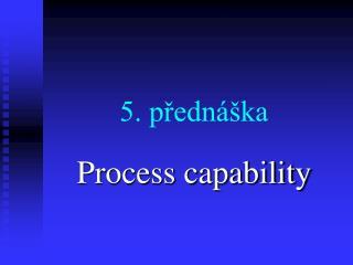 5. přednáška