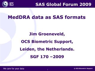 MedDRA data as SAS formats