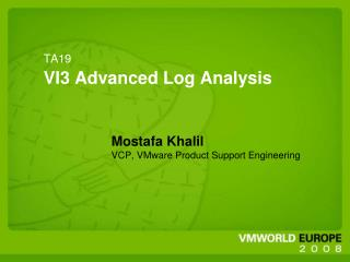 TA19 VI3 Advanced Log Analysis