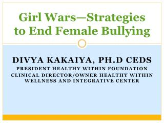 Girl Wars—Strategies to End Female Bullying