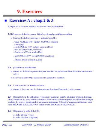 9. Exercices