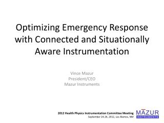 Optimizing Emergency Response with Connected and Situationally Aware Instrumentation