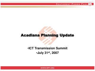 Acadiana Planning Update
