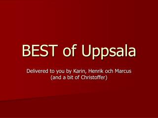 BEST of Uppsala