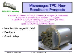 Micromegas TPC: New Results and Prospects