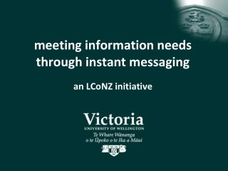 meeting information needs through instant messaging