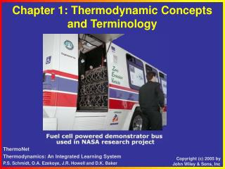 Chapter 1: Thermodynamic Concepts and Terminology