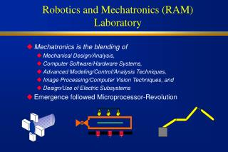 Robotics and Mechatronics RAM Laboratory