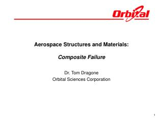 Aerospace Structures and Materials: Composite Failure
