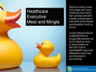 Healthcare Executive  Meet and Mingle