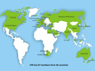 LPD has 67 members from 36 countries