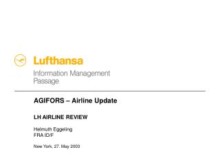 AGIFORS – Airline Update