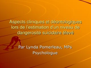 Par Lynda Pomerleau, MPs Psychologue