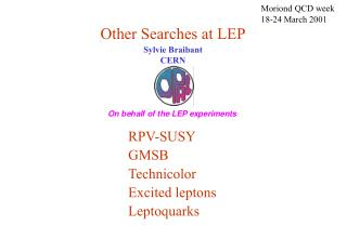 Other Searches at LEP