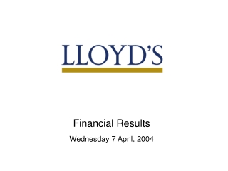 Preliminary Results Presentation 31 May 2001