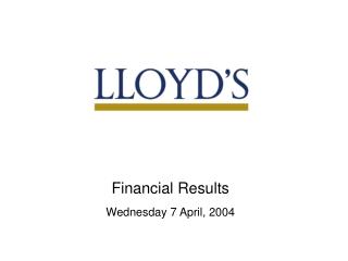 Preliminary Results Presentation 31 May 2001