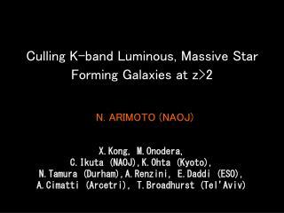 Culling K-band Luminous, Massive Star Forming Galaxies at z>2