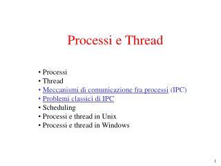 Processi e Thread