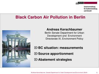 Black Carbon Air Pollution in Berlin