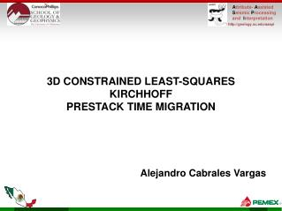 3D CONSTRAINED LEAST-SQUARES KIRCHHOFF  PRESTACK TIME MIGRATION