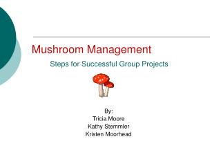 Mushroom Management       Steps for Successful Group Projects