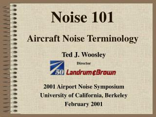 Noise 101 Aircraft Noise Terminology