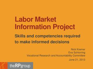 Labor Market Information Project