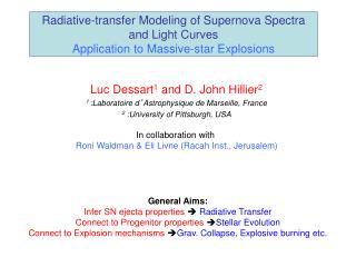 Luc Dessart 1  and D. John Hillier 2 1  :Laboratoire d ' Astrophysique de Marseille, France